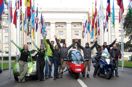 After exactly 80 driving days, the ZERO EMISSIONS RACE made it back to the UN in Geneva and completed the fastest round the world trip with electric cars!