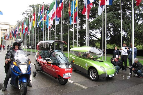 The ZERO RACE started on the 16. April 2010 at United Nations Palace in Geneva